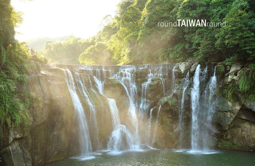 shifen waterfall little niagara of taiwan round taiwan round. Black Bedroom Furniture Sets. Home Design Ideas